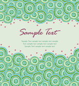 Decorative doodle abstract text background — Stock Vector