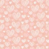 Romantyczne bezszwowe tekstury z serca — Wektor stockowy