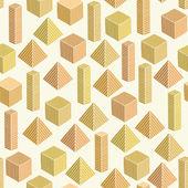 Decorative geometric seamless sunny pattern — Vetor de Stock