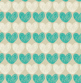 Seamless pattern with doodle hearts — Stock Vector