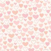 Seamless scribble heart texture — Vector de stock