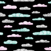 Vintage pattern with clouds — Stock Vector