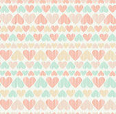 Romantic seamless heart pattern — Stock Vector