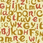 Seamless yellow typographic texture — Stock Vector