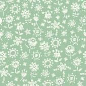 Modello senza cuciture sveglio floreale delicato — Vettoriale Stock