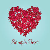 Romantic greeting card with sample text — Vector de stock