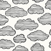 Cloudy sky seamless background — Cтоковый вектор