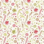 Floral ornate seamless pattern — Stock Vector