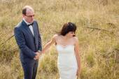 Wedding and love story in nature — Stock Photo
