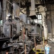Vintage Austrian steam locomotive wait for restoration in Wien museum  depot — Stock Photo #63841725
