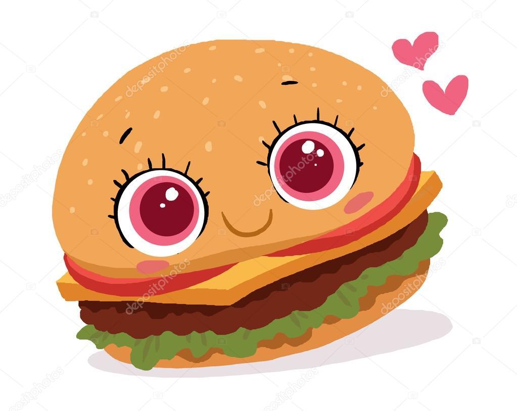 Stock Photo Cute Burger Cartoon on 30 Burgers