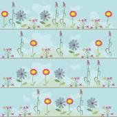 Pattern flowers on celestial — Stock Vector
