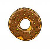 Donut. Ilustración de vector — Vector de stock
