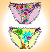 Panties. vector illustration — Stock Vector