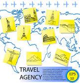 Travel agency. vector illustration — Stock Vector