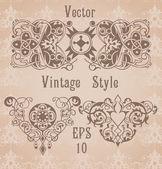 Vintage monogram frames — ストックベクタ