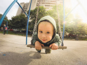 Boy In The Hood(ie) — Stock Photo