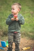 Toddler Playing In the Dirt — Stock Photo