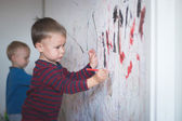 Drawing On The Wall — Stock Photo