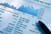 Financial Chart Analysis — Stock Photo