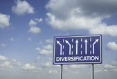 Sign o the Times diversificatie — Stockfoto