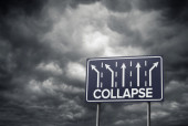 Sign o the Times Collapse — Stock Photo