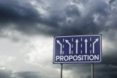 Sign o the Times Proposition — Stock Photo