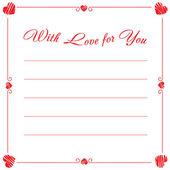 St Valentine's Day postcard — Stock Vector