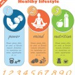 Fitness and healthy lifestyle template — Stock Vector #67761839