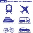 Travel icons set  - transport — Stock Vector #70993519