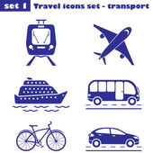 Travel icons set  - transport — Stock Vector