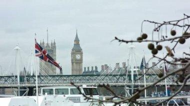 British Flag with Big Ben — Stock Video