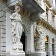 Entrance of the historic building in Budapest — Stock Photo #63688737