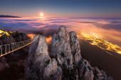 Ai-Petri. Night, Full Moon (Crimea) — Stock Photo