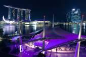 Esplanade open scene on the waterfront, Singapore — Stock Photo