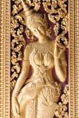 Golden carvings on the doors of Wat Xieng Thong, Laos — Stock Photo