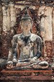 Socha buddhy na wat mahathat — Stock fotografie