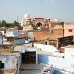 The view of Taj Mahal from the roof of Taj Ganj area, Agra, India — Stock Photo #67875679