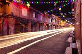 Holiday illumination on the street of Malacca, Malaysia — Stock Photo