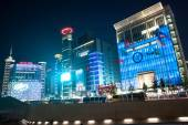 Night view of Dongdaemun shopping area, Seoul — Stock Photo