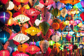 Traditional lanterns shop at night, Hoi An, Vietnam — Stock Photo