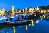 Old bridge at Hoi An ancient town, Vietnam — Fotografia Stock
