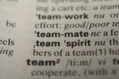 Definition of the word teammate — Stock Photo