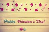 Tarjeta de felicitación del día de San Valentín — Foto de Stock