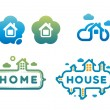 Set of logos and icons with houses — Stock Vector #62989839