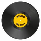 Realistic vinyl record with disco music — Stock Vector
