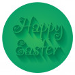 Happy Easter Hand lettering Typographical Vector Greeting Sign — Stock Vector #67889351