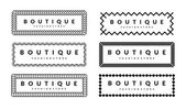 Beautiful Creative Borders Design Template Set For Hipsters Fashion Boutique — Stock Vector