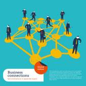 Business Connections with people . — Stock Vector