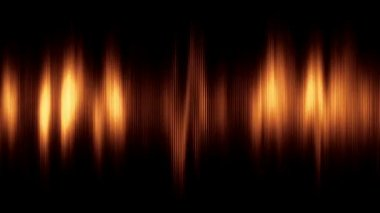 Abstract animated background with audio waveform. Seamless loop. Gold tint. More color options available in my portfolio. — Stock Video